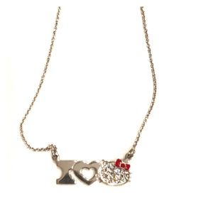 """ I ❤️ Hello Kitty"" necklace (silver)"